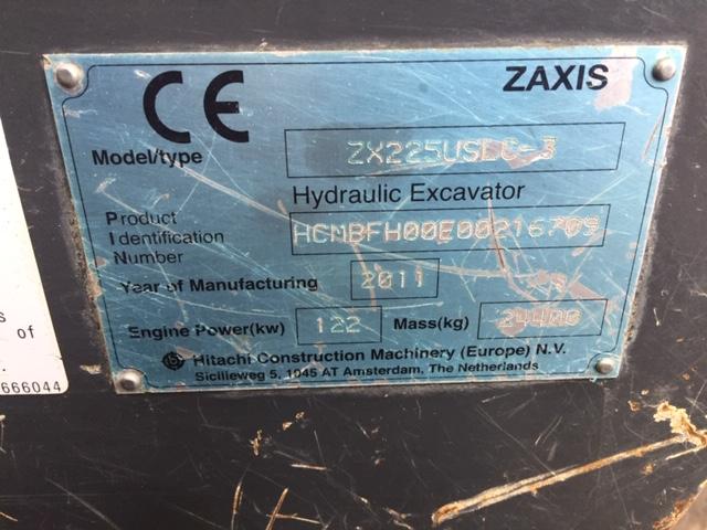 zx225 plate